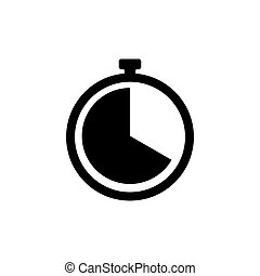 Clock icon. Timer sign. Stopwatch symbol