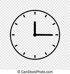 Clock Icon. . Vector
