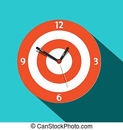 Clock Icon. Vector Flat Design Time Symbol.