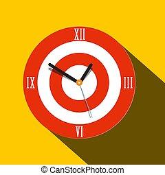 Clock Icon. Vector Flat Design Time Symbol.