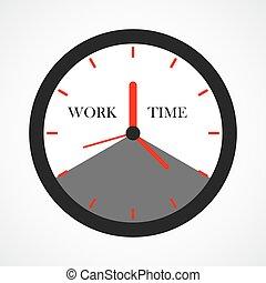 Clock icon. Vector illustration.
