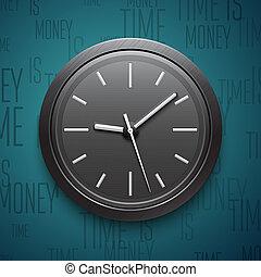 Clock icon. Vector illustration