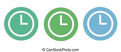 Clock icon , Vector illustration