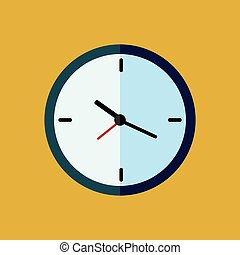 Clock icon Vector illustration, EPS10