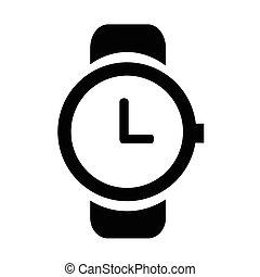clock icon, vector illustration. Flat design style