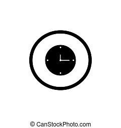 Clock icon vector illustration on white background