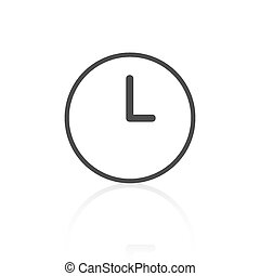 Clock Icon Vector Illustration - Vector