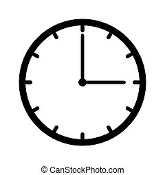 Clock icon vector isolated on white