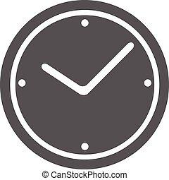 Clock icon vector simple