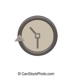 Clock icon vector time simple face illustration isolated watch symbol hour design sign dial timer