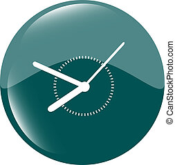 Clock icon web button sign