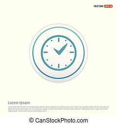 clock Icon - white circle button