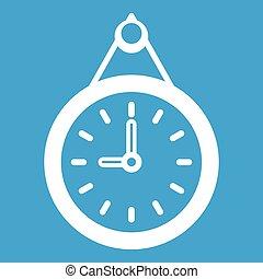 Clock icon white
