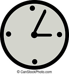 Clock icon with hour and minute hand