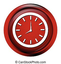 Clock icon, working time sign button