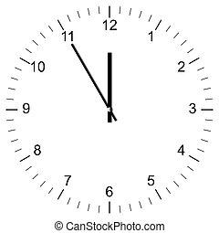 Clock Illustration 11:00 - Illustration of a Clock showing ...