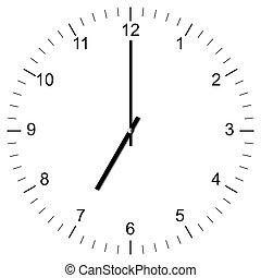 Clock Illustration 7:00 - Illustration of a Clock showing 7:...