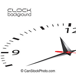 clock illustration isolated on white background, vector ...