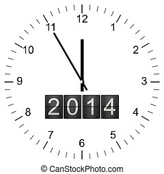 Clock Illustration new years eve 5 to 12