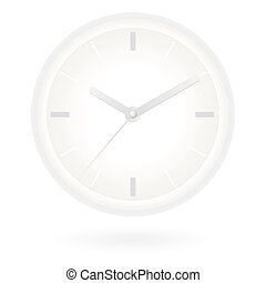 Clock - Iconic illustration of white clock