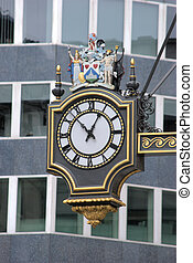 Clock in City of London
