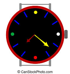 clock in colors