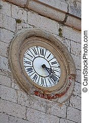 Clock at Old Building in Gourds Village France