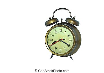 Clock in old style on white backgro