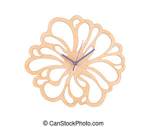 Clock in the form of a flower.