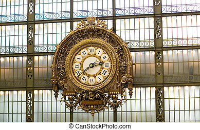 Clock in the Orsay museum, Paris, France