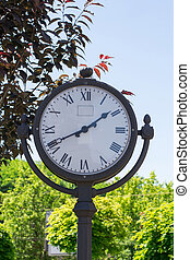 Clock in the park
