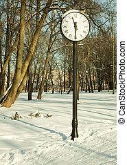 Clock in wonter park