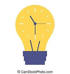 clock inside bulb time creativity