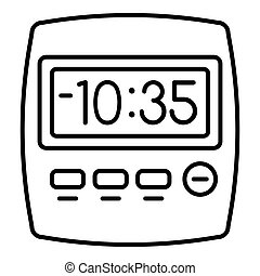 Clock kitchen timer icon, outline style