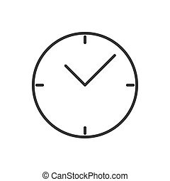Clock line icon on a white background