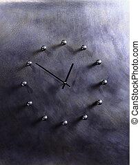 Clock Made of Rivets