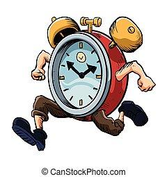 Clock Man Running. old clock?