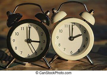 Clock marking winter time change