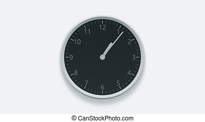 Clock measuring off time from 10 am till 8 pm - Wall clock...