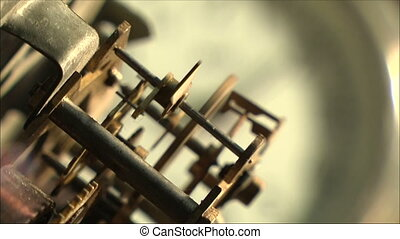 clock mechanism 22 - clock mechanism