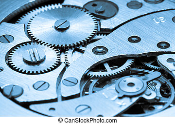 clock mechanism made in the technique of toning. Very...