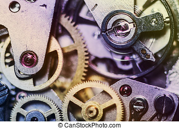 clock mechanism made in the technique of toning