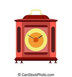 Clock mechanism watch mechanical vector gears metal time background. Illustration machine technology wheel cog
