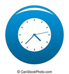 Clock modern icon blue