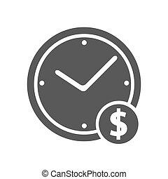 Clock money icon simple