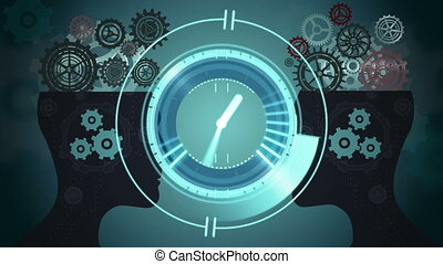 Clock moving and cogs working