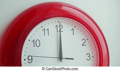 Clock Moving - Clock minute, second and hour hands moving