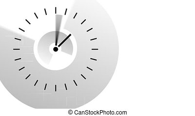 Clock moving the hands very fast. Passing time concept
