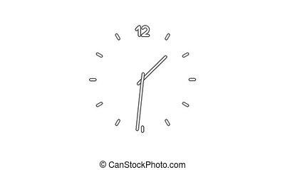 Clock time lapse full HD (1920x1080 24s 30Fps)