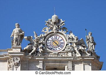 Clock of Saint Peter basilica